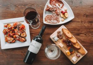 Appetizers and Wine from The Attic Door