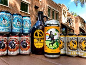 Selection of Beers Available at Crooked Can Brewing Company