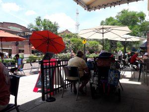 People Enjoying Outdoor Dining in Downtown Winter Garden