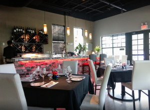 Interior of Matthew's Steakhouse