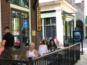 People Eating Outdoors at Urban Flats