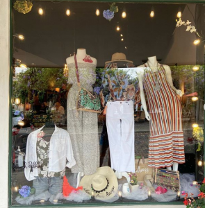 The Boutique on Plant Display Window