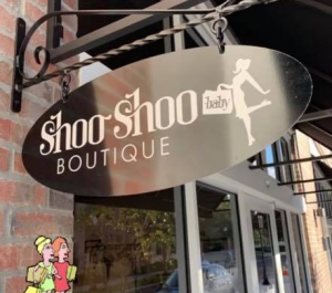 Shoo Shoo Baby Boutique Sign