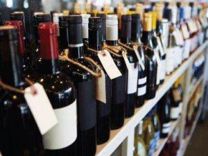 Wine bottles at Tony's Liquors