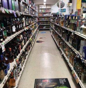Bottles at Tony's Liquors