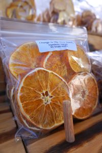 Dried Orange Slices from the Farmers Market