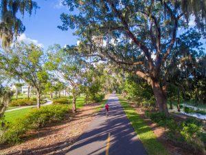 Cyclist on the West Orange Trail