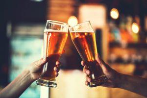 Patrons Enjoying Beers at Tony's Liquors