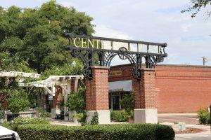 Entrance to Centennial Plaza