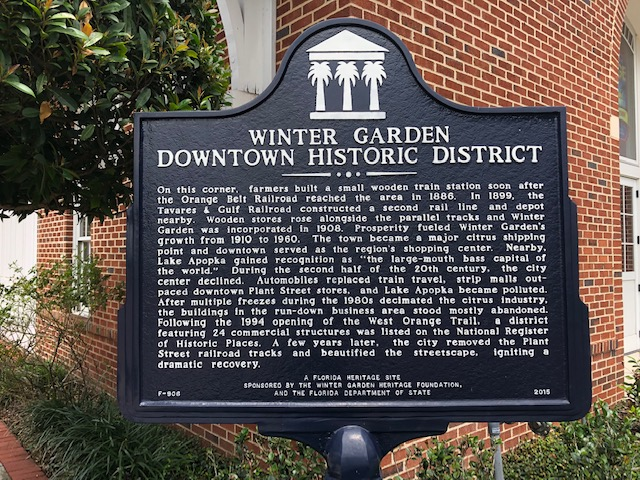 Downtown Winter Garden Historic District Sign
