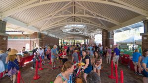 People Enjoying the Farmers Market at the Downtown Pavillion