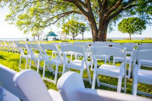 Outdoor Wedding Set-up at Tanner Hall
