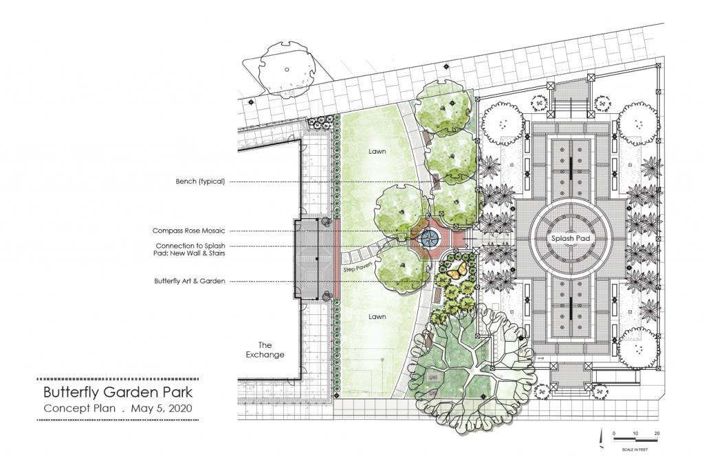 Conceptual Plan for Butterfly Garden Park