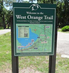 West Orange Trail Map Sign