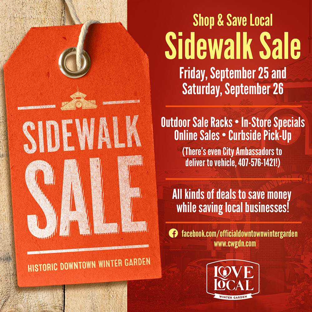 City Of Winter Garden Shop Small Sidewalk Sale 2020