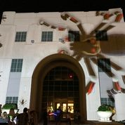 Halloween Image Projected on City Hall
