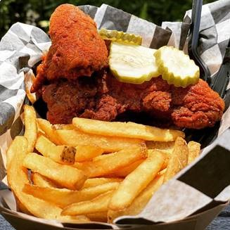 Chicken and Fries from Fat Mike's Hot Chicken