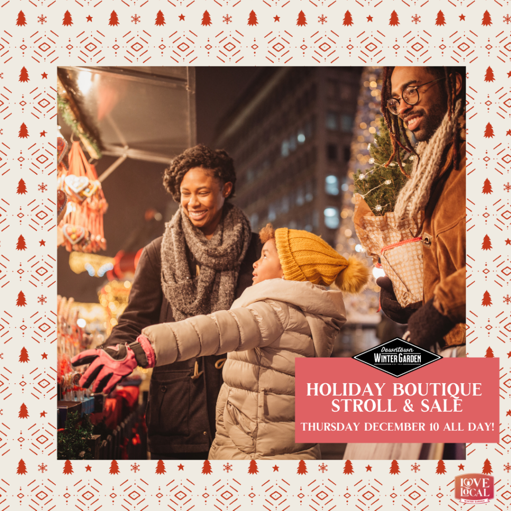 HOLIDAY BOUTIQUE STROLL & SALE