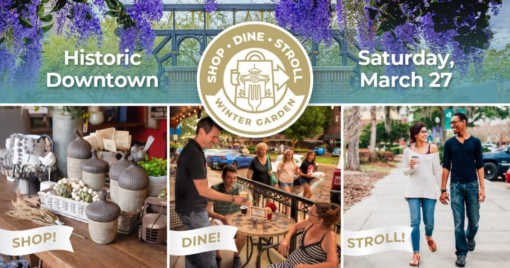 Image showing shopping, dining, and strolling opportunities in Downtown Winter Garden.